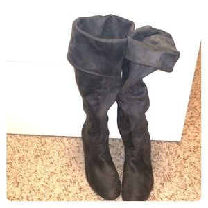 Report Gray Suede Boots